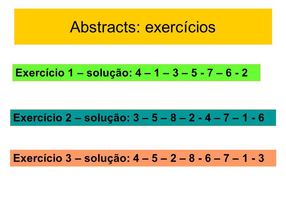 Abstracts: exercícios