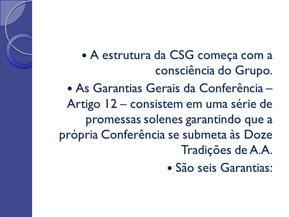 A estrutura da CSG começa com a consciência do Grupo.