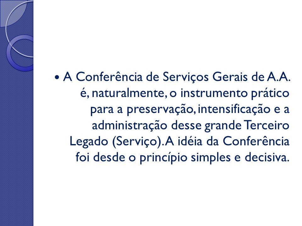 A Conferência de Serviços Gerais de A. A