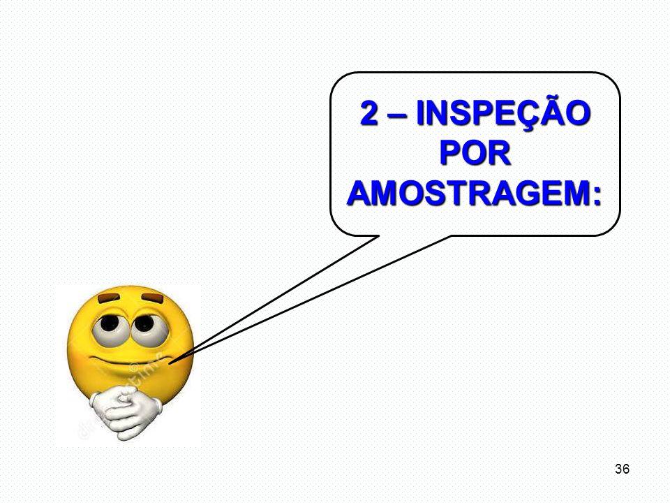2 – INSPEÇÃO POR AMOSTRAGEM: