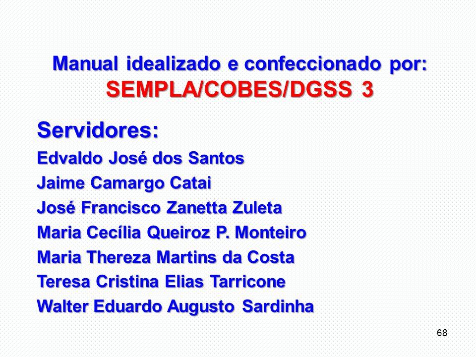 Manual idealizado e confeccionado por: SEMPLA/COBES/DGSS 3