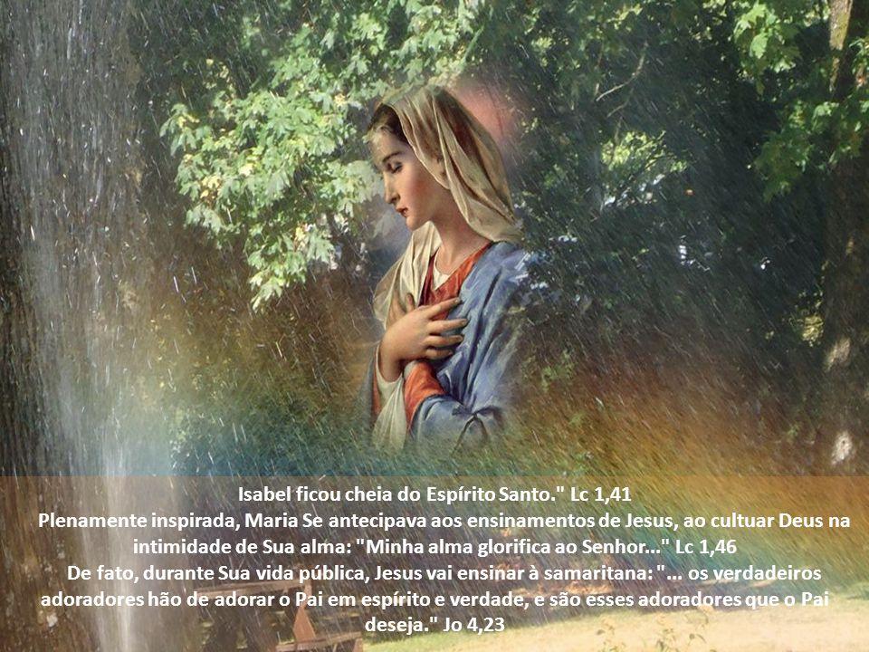 Isabel ficou cheia do Espírito Santo. Lc 1,41