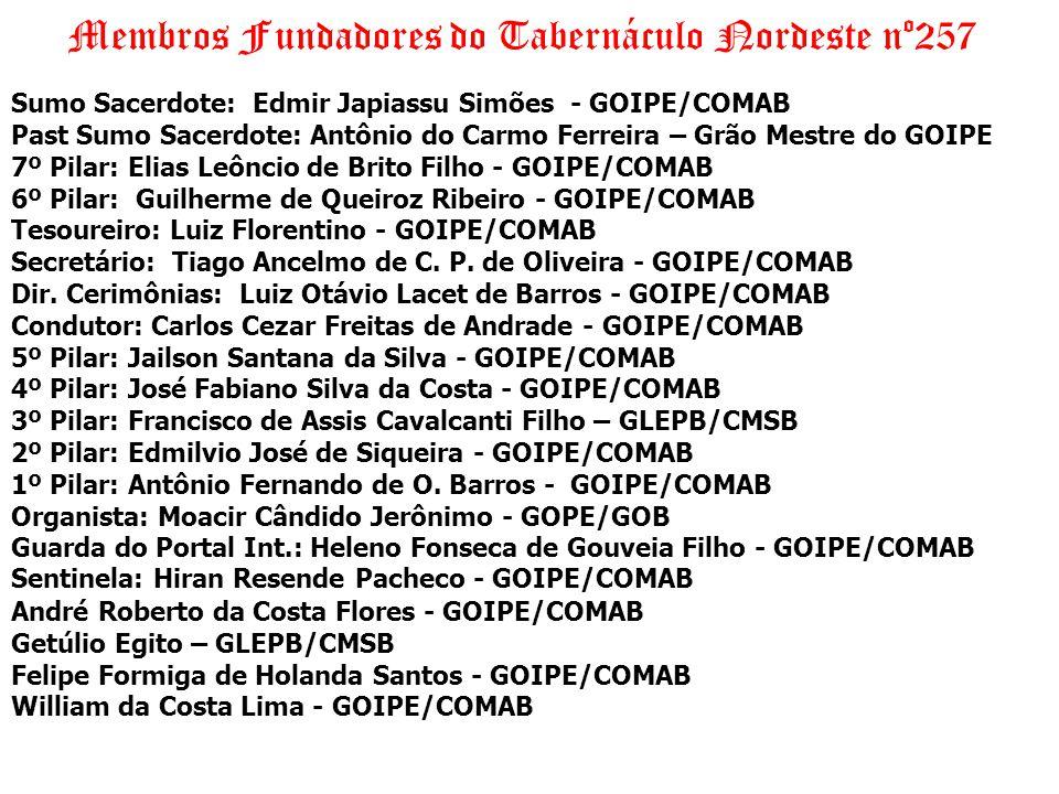 Membros Fundadores do Tabernáculo Nordeste nº257