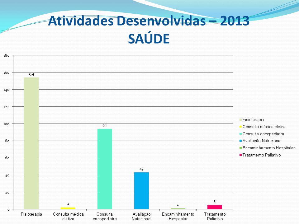 Atividades Desenvolvidas – 2013 SAÚDE