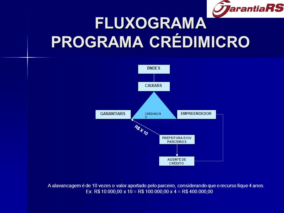 FLUXOGRAMA PROGRAMA CRÉDIMICRO