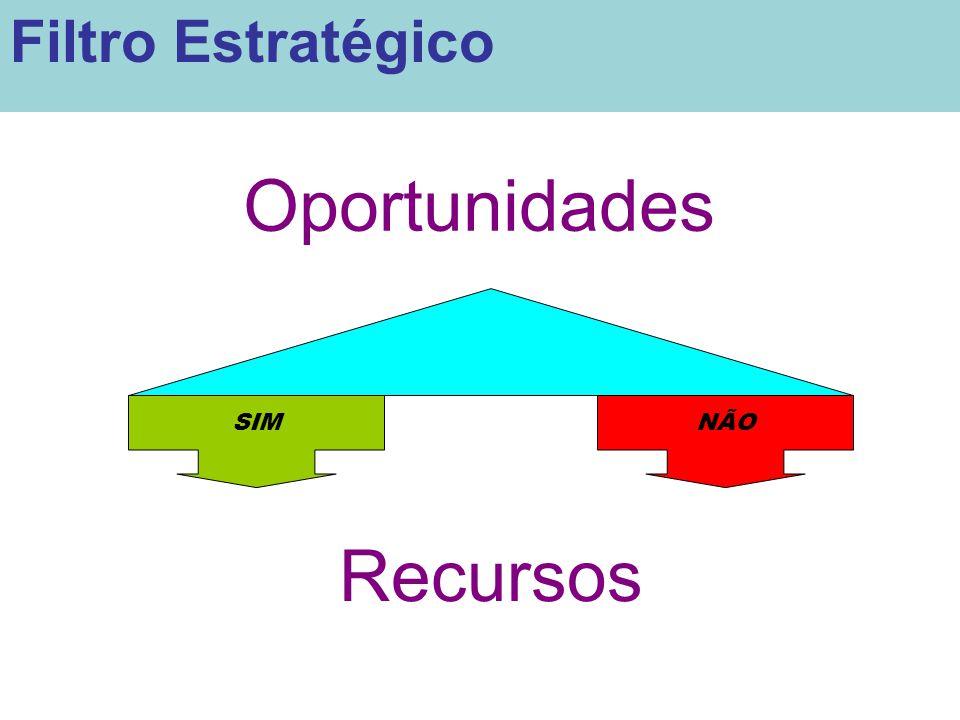 Filtro Estratégico Oportunidades SIM NÃO Recursos