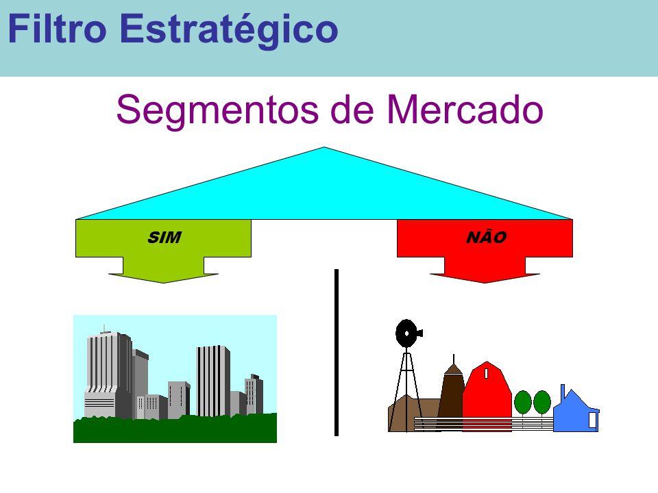 Filtro Estratégico Segmentos de Mercado SIM NÃO