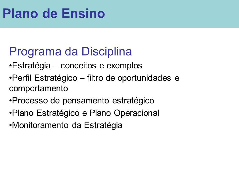 Plano de Ensino Programa da Disciplina