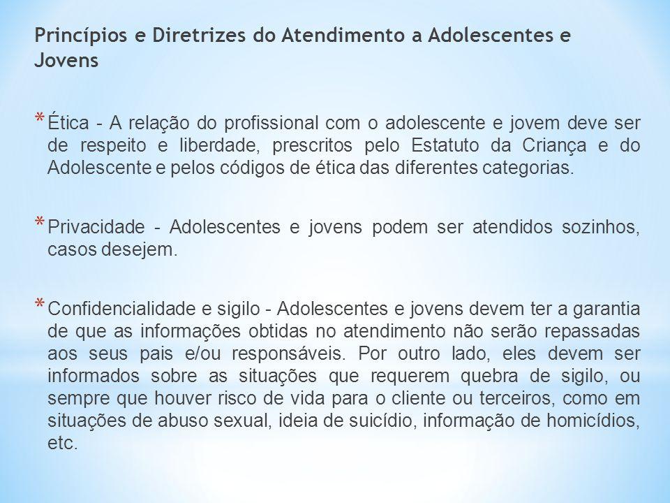 Princípios e Diretrizes do Atendimento a Adolescentes e Jovens