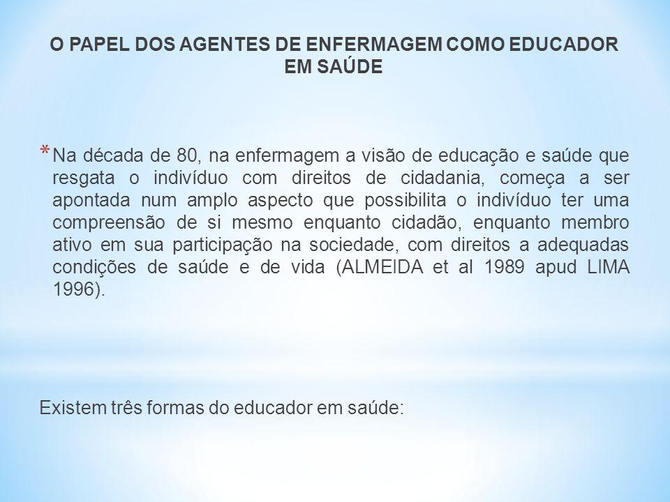 O PAPEL DOS AGENTES DE ENFERMAGEM COMO EDUCADOR EM SAÚDE
