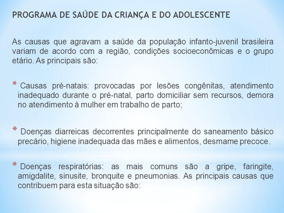 PROGRAMA DE SAÚDE DA CRIANÇA E DO ADOLESCENTE
