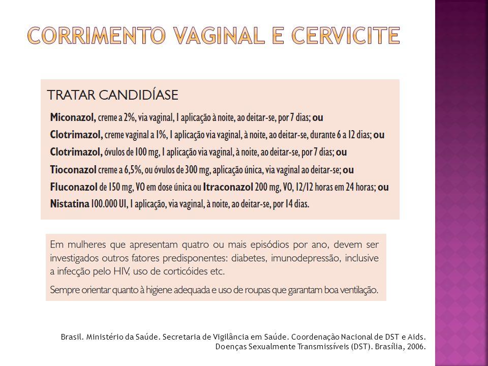 CORRIMENTO VAGINAL E CERVICITE