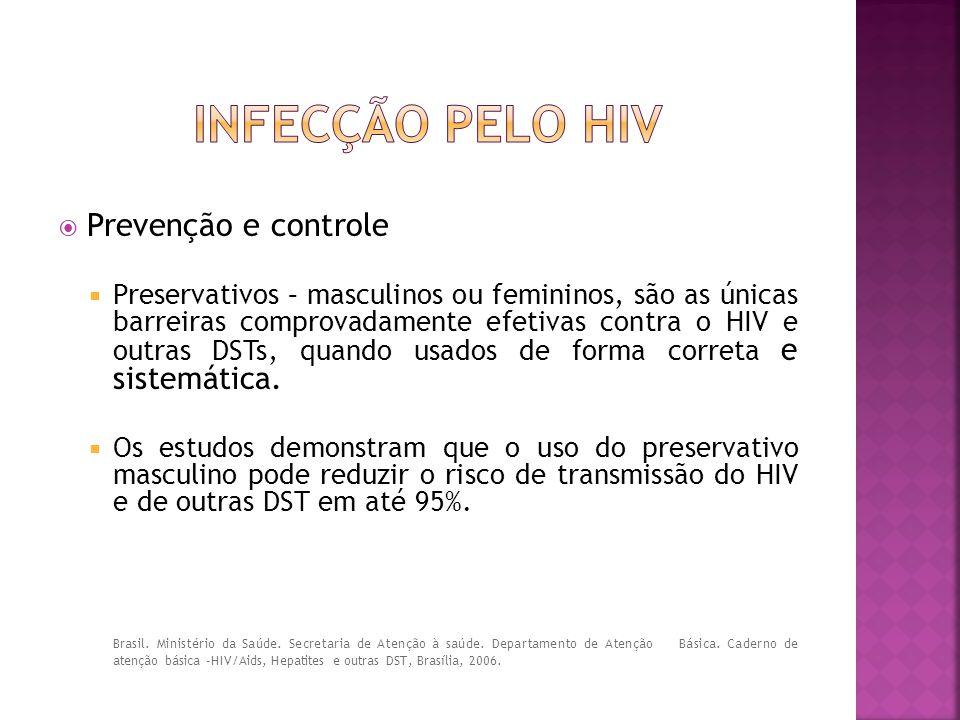 Infecção pelo hiv Prevenção e controle