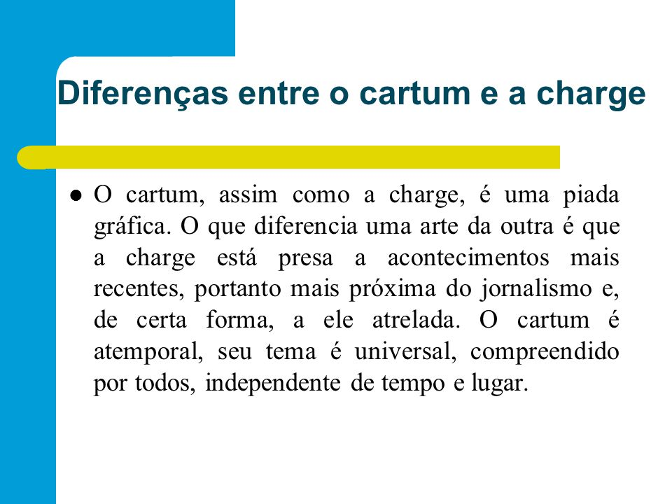 Diferenças entre o cartum e a charge