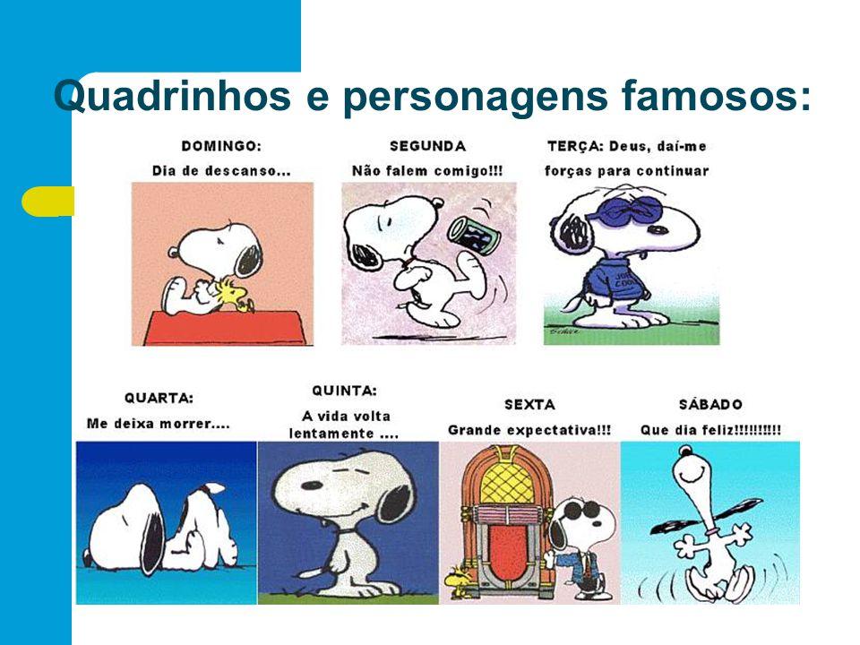 Quadrinhos e personagens famosos: