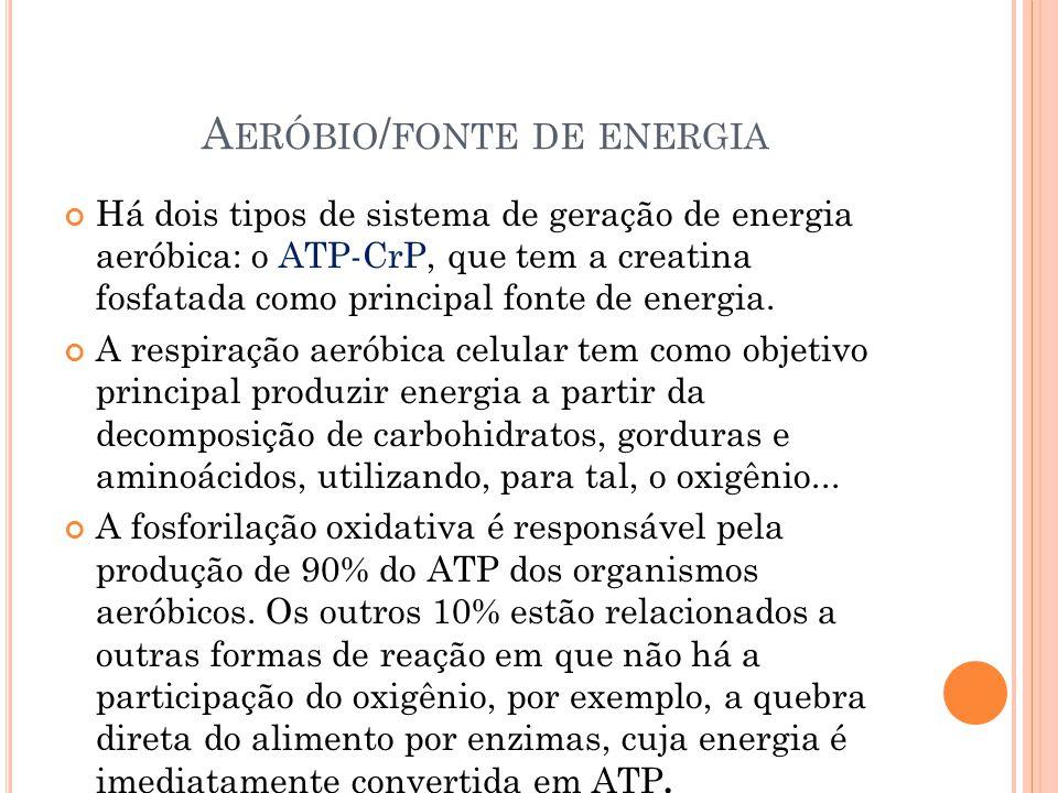 Aeróbio/fonte de energia