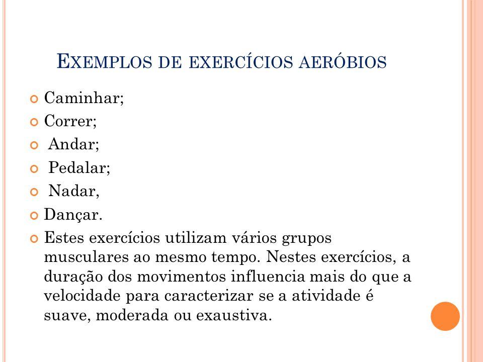Exemplos de exercícios aeróbios