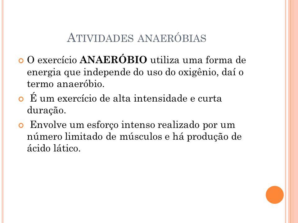 Atividades anaeróbias