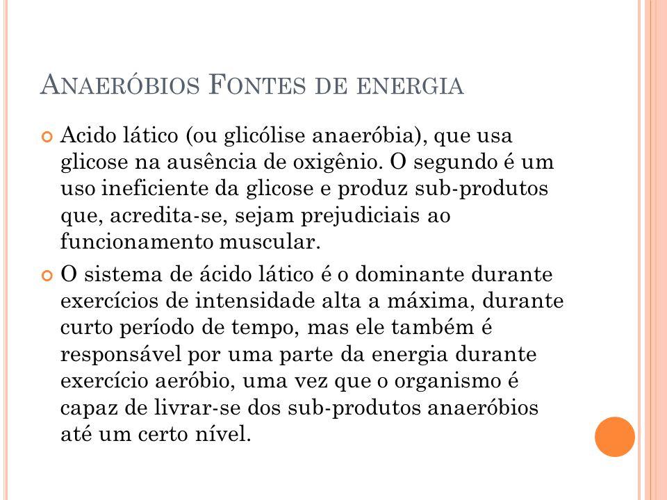Anaeróbios Fontes de energia