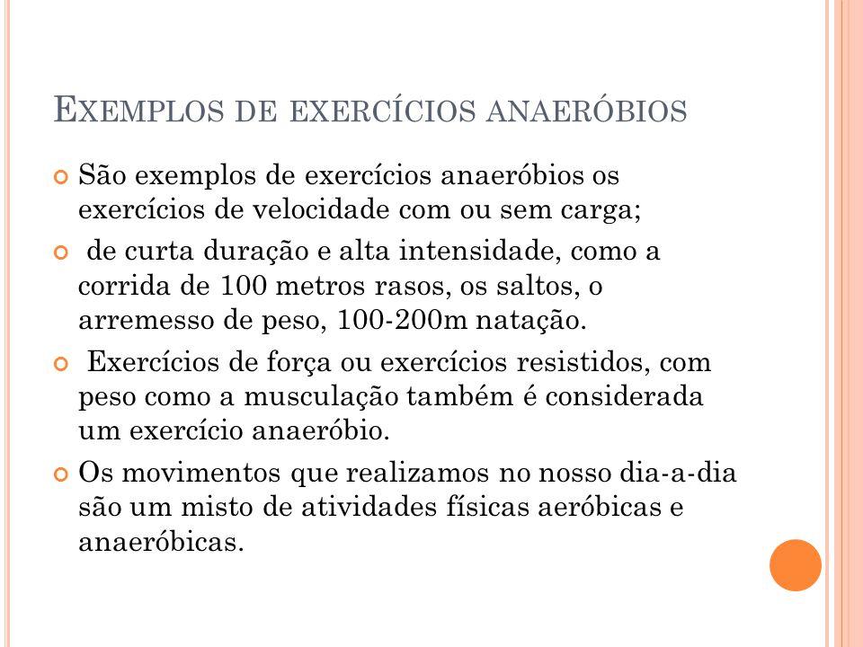 Exemplos de exercícios anaeróbios