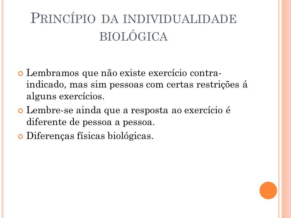 Princípio da individualidade biológica