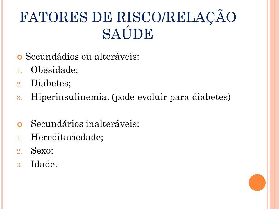 FATORES DE RISCO/RELAÇÃO SAÚDE