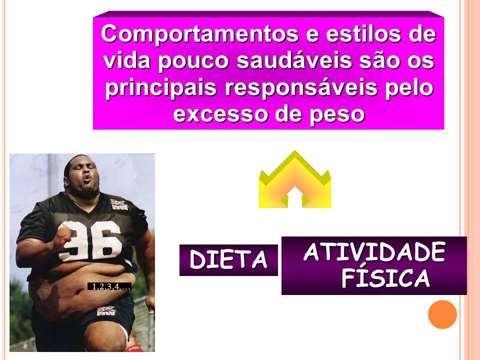 Comportamentos e estilos de vida pouco saudáveis são os principais responsáveis pelo excesso de peso