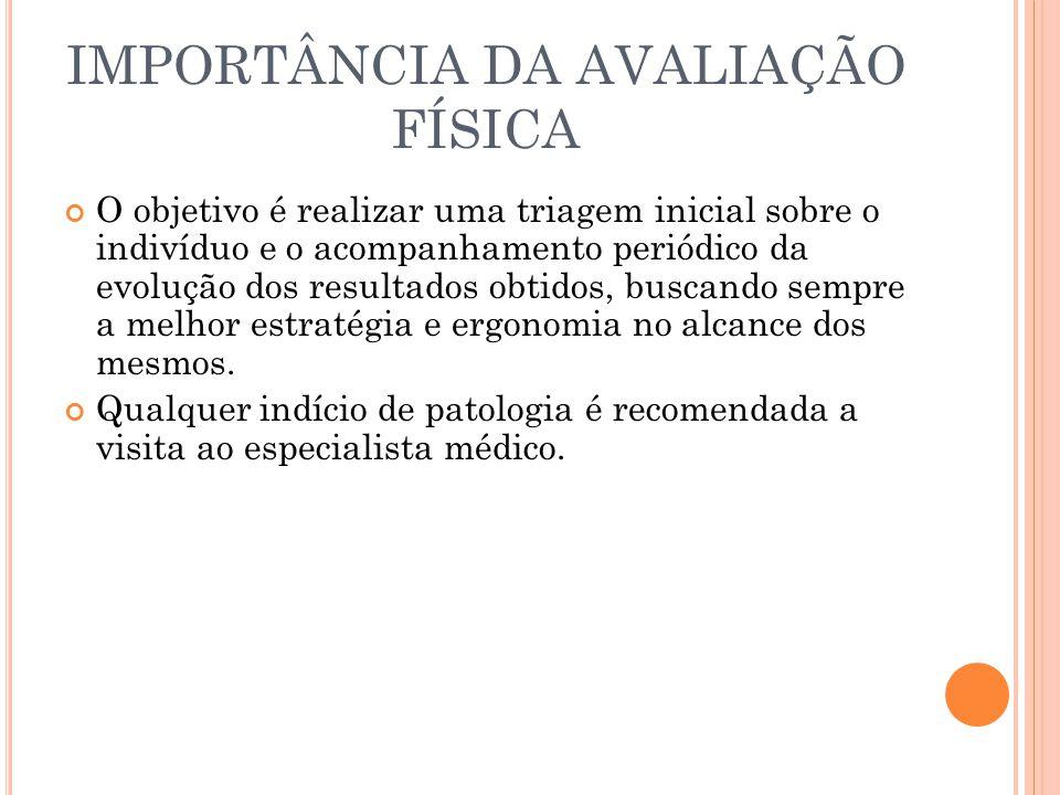 IMPORTÂNCIA DA AVALIAÇÃO FÍSICA
