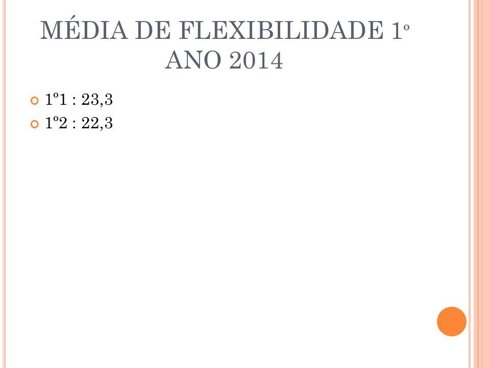 MÉDIA DE FLEXIBILIDADE 1º ANO 2014