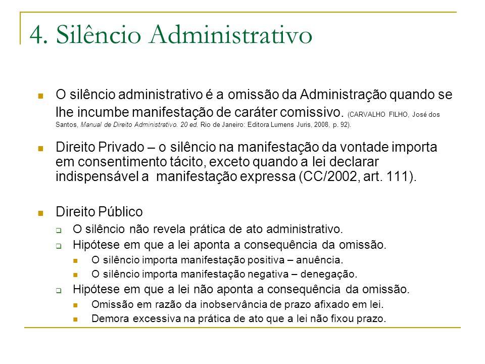 4. Silêncio Administrativo