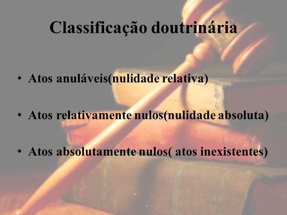 Classificação doutrinária
