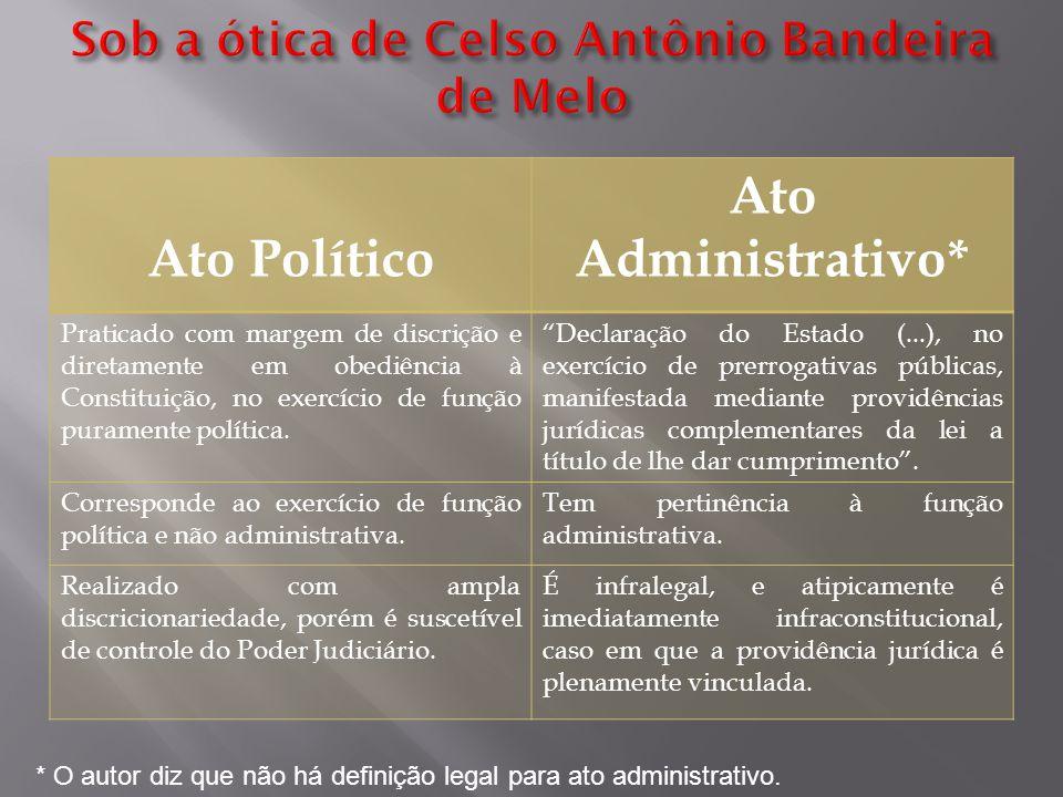 Sob a ótica de Celso Antônio Bandeira de Melo