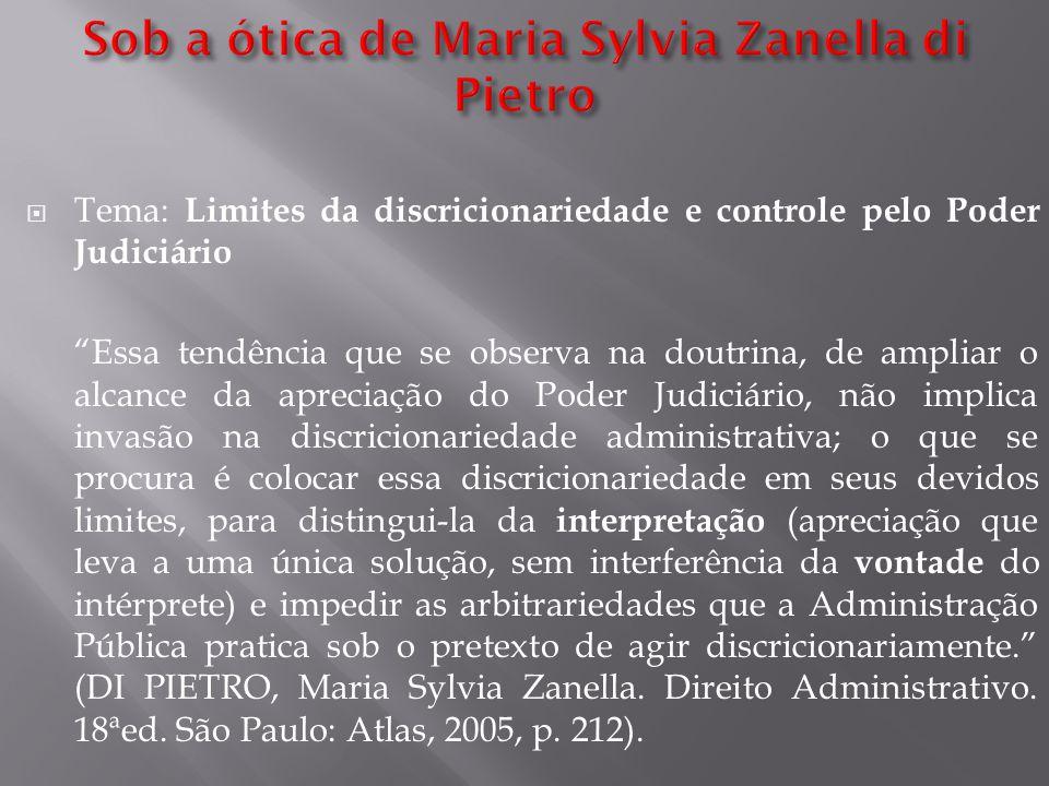 Sob a ótica de Maria Sylvia Zanella di Pietro