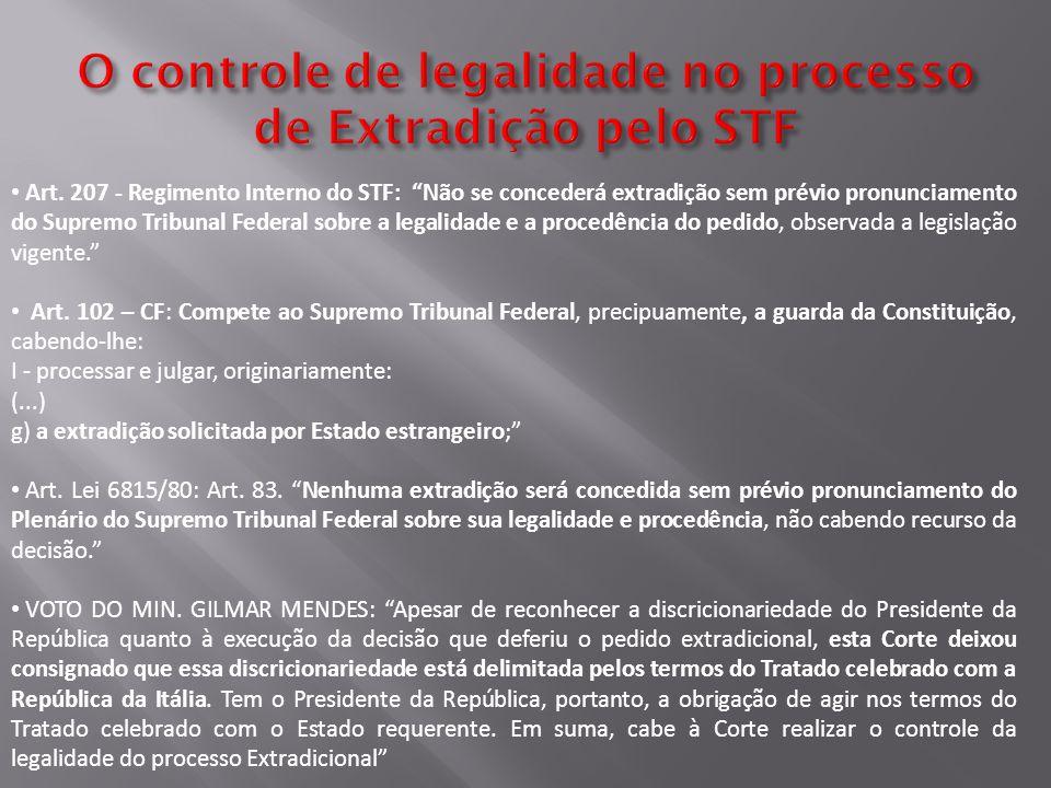 O controle de legalidade no processo de Extradição pelo STF