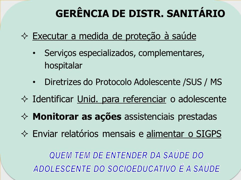 GERÊNCIA DE DISTR. SANITÁRIO