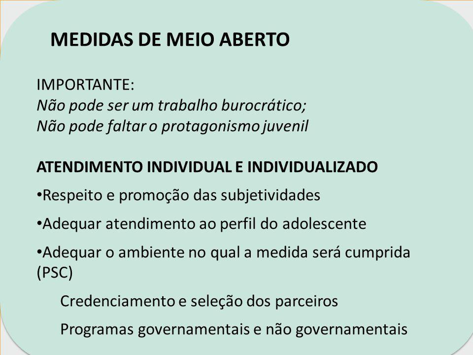 MEDIDAS DE MEIO ABERTO IMPORTANTE: