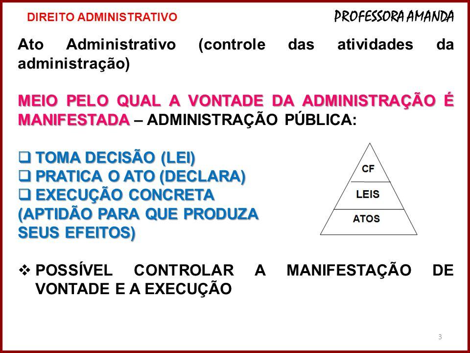 Ato Administrativo (controle das atividades da administração)