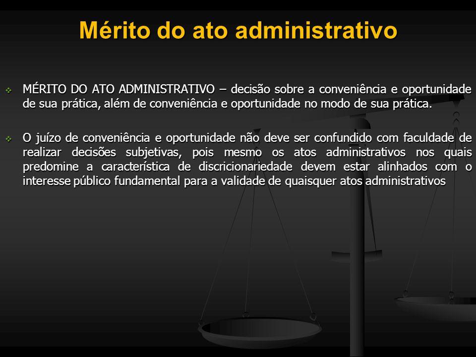 Mérito do ato administrativo