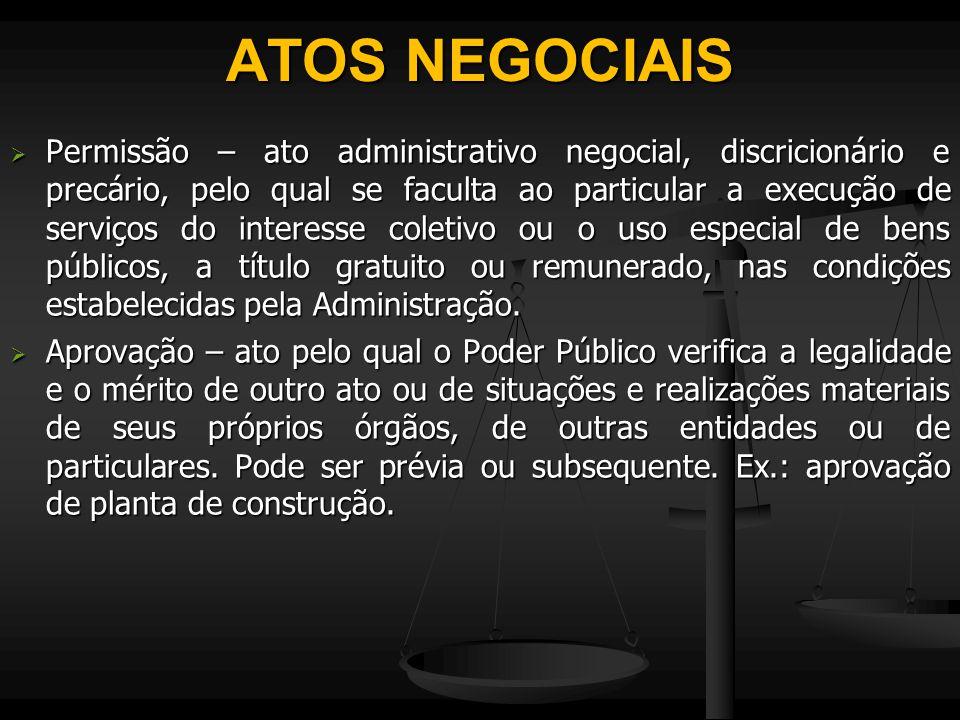 ATOS NEGOCIAIS