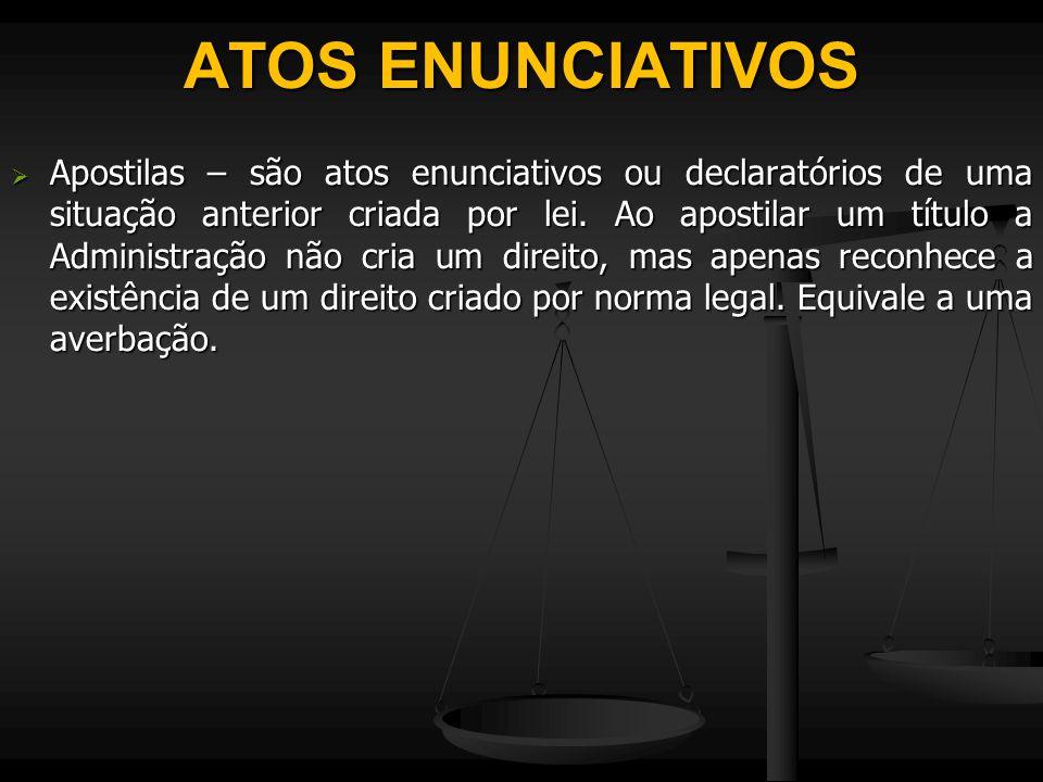 ATOS ENUNCIATIVOS