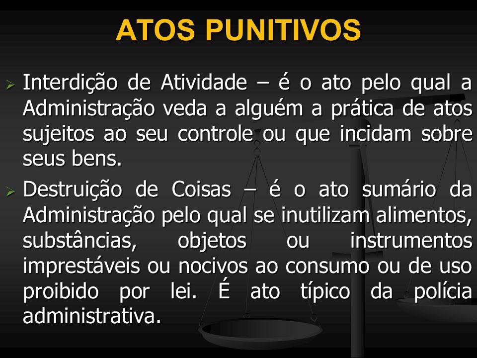 ATOS PUNITIVOS