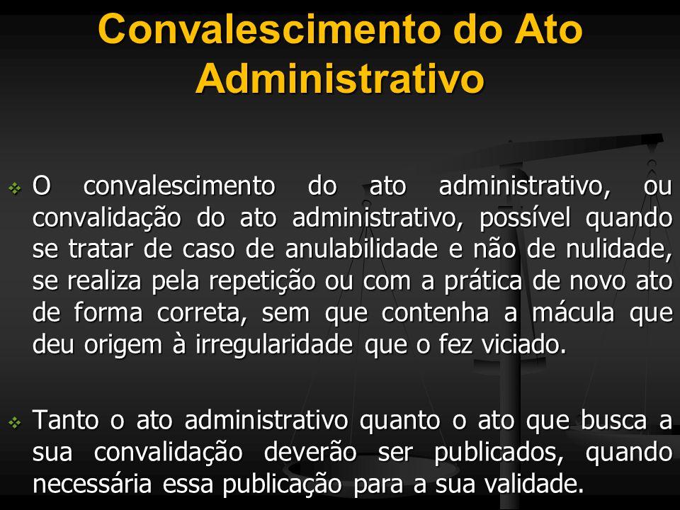 Convalescimento do Ato Administrativo
