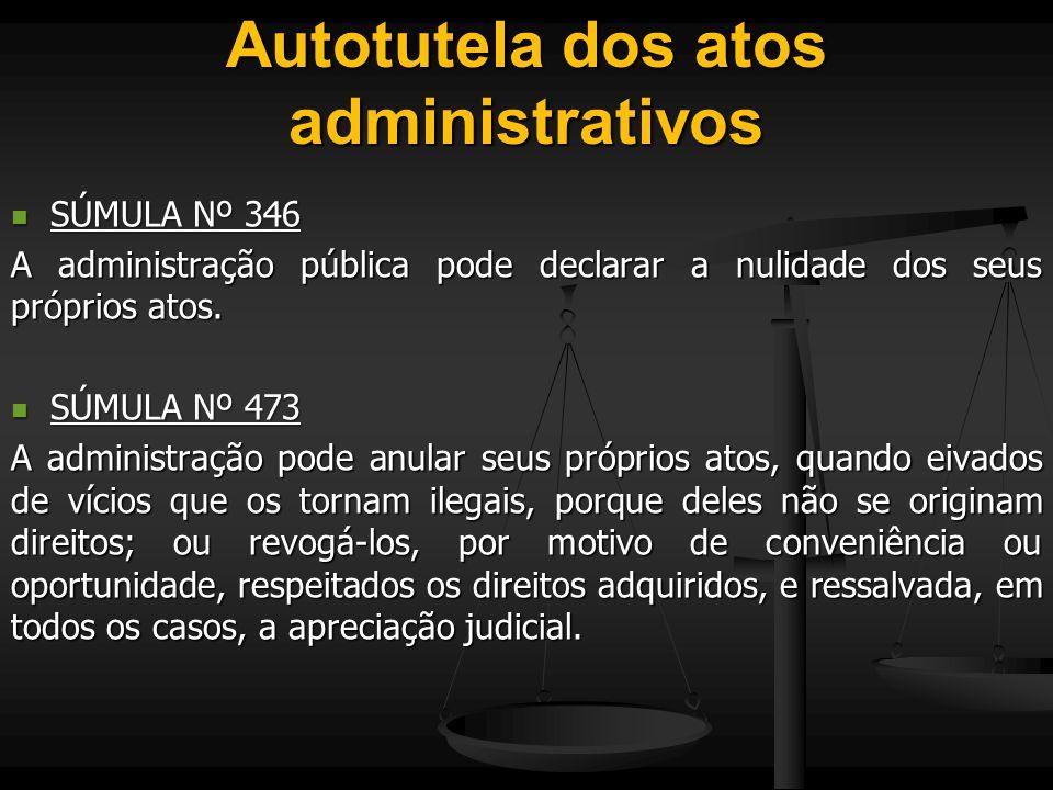 Autotutela dos atos administrativos