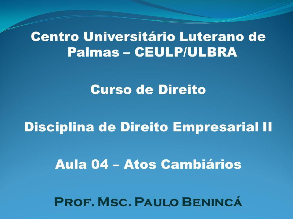 Centro Universitário Luterano de Palmas – CEULP/ULBRA