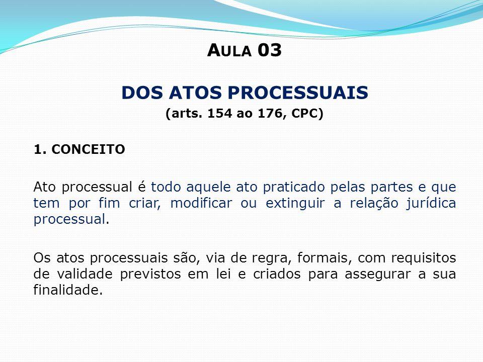 Aula 03 Dos atos processuais
