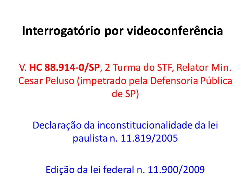 Interrogatório por videoconferência