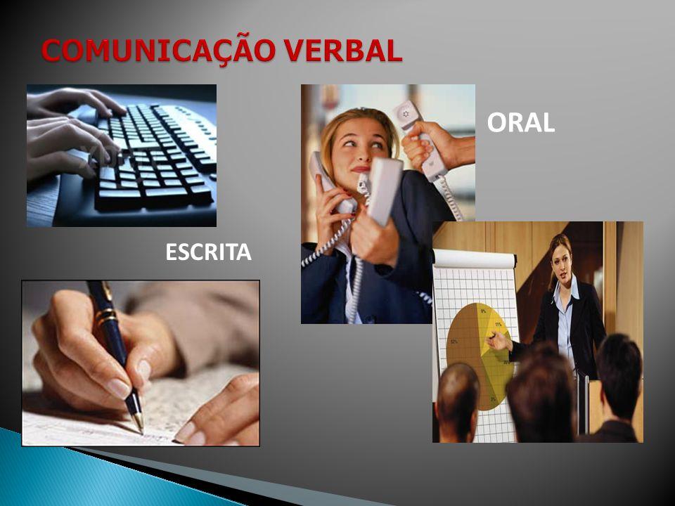 COMUNICAÇÃO VERBAL ORAL ESCRITA