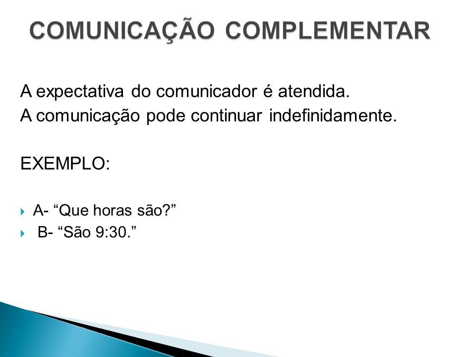 COMUNICAÇÃO COMPLEMENTAR