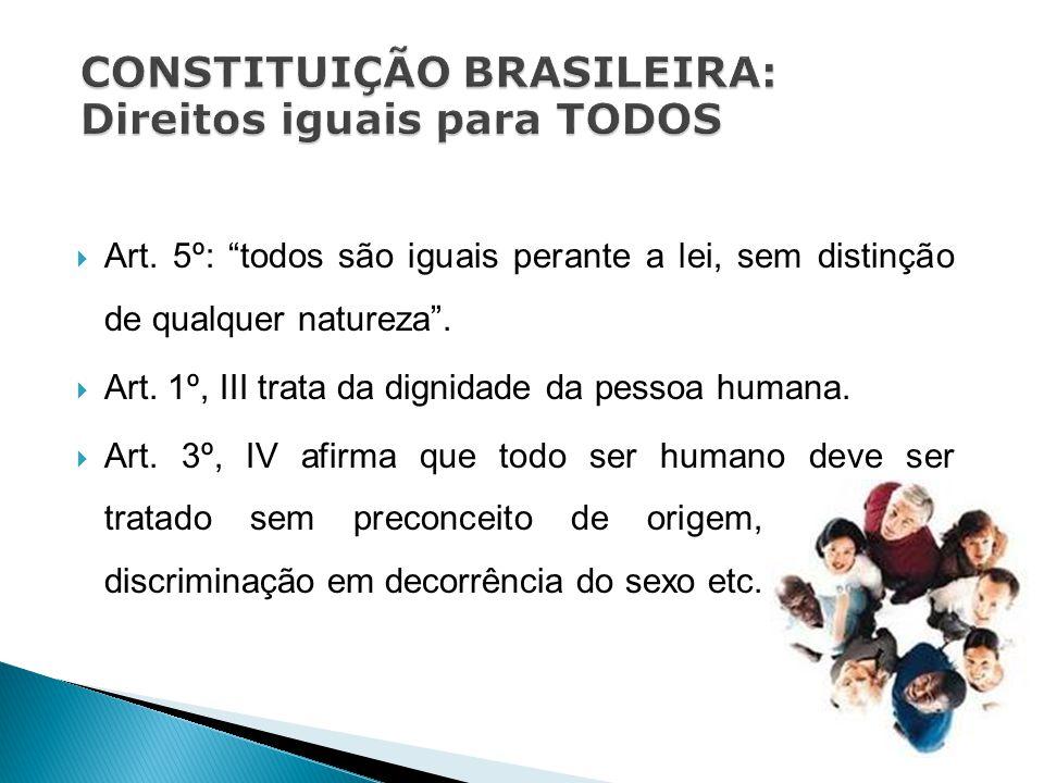 CONSTITUIÇÃO BRASILEIRA: Direitos iguais para TODOS