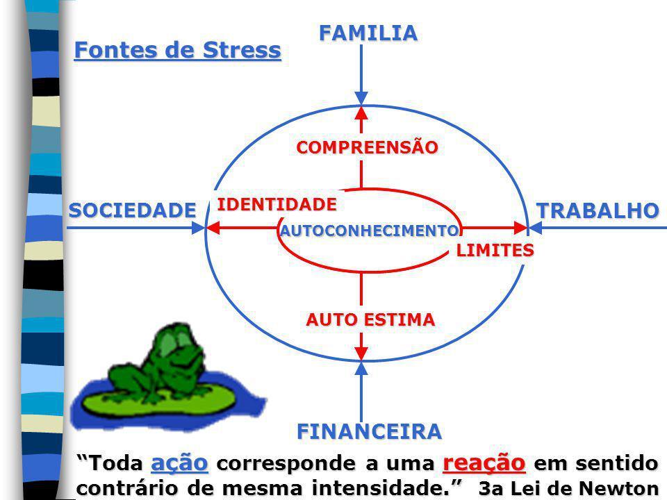 Fontes de Stress FAMILIA TRABALHO FINANCEIRA